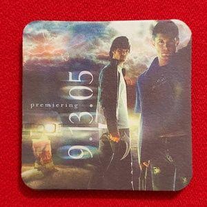 SUPERNATURAL•Sam & Dean coaster•RARE!!📺 NEW